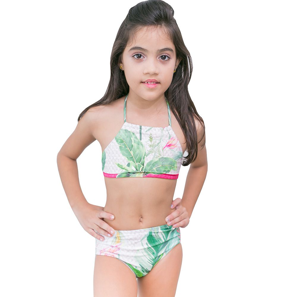 Biquini infantil top cropped