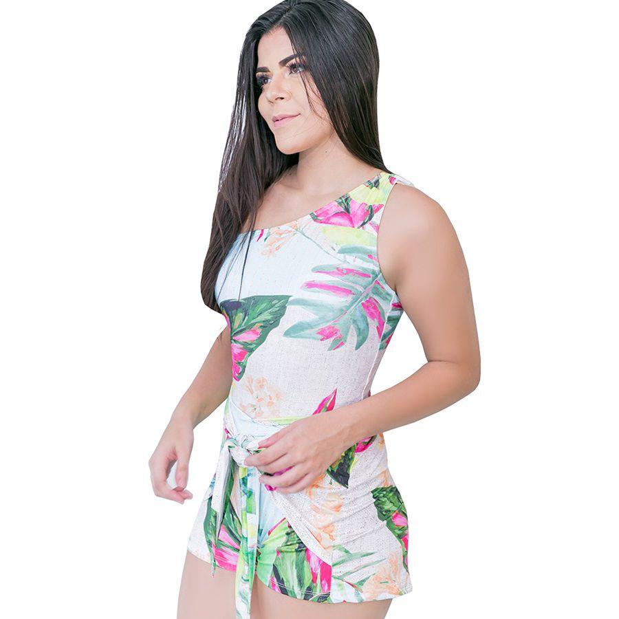 Short com abas de amarração moda praia 2019