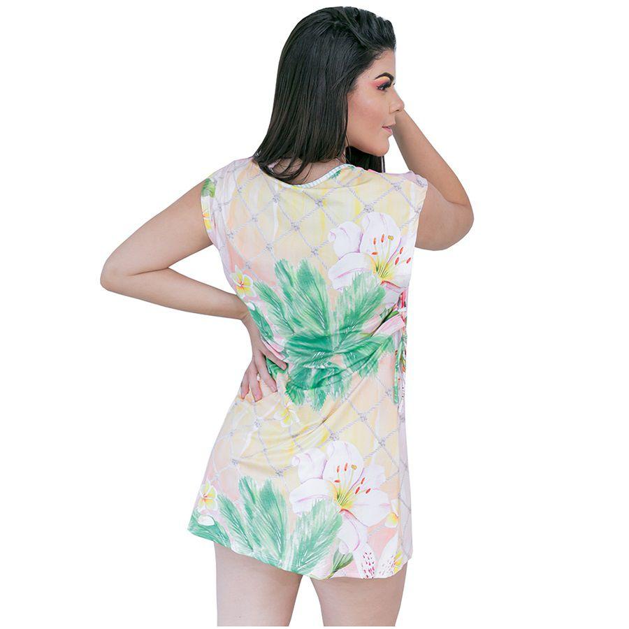 Vestido com tiras laterias alto verão 2019