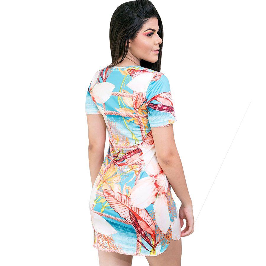 Vestido Decote Moda Praia V
