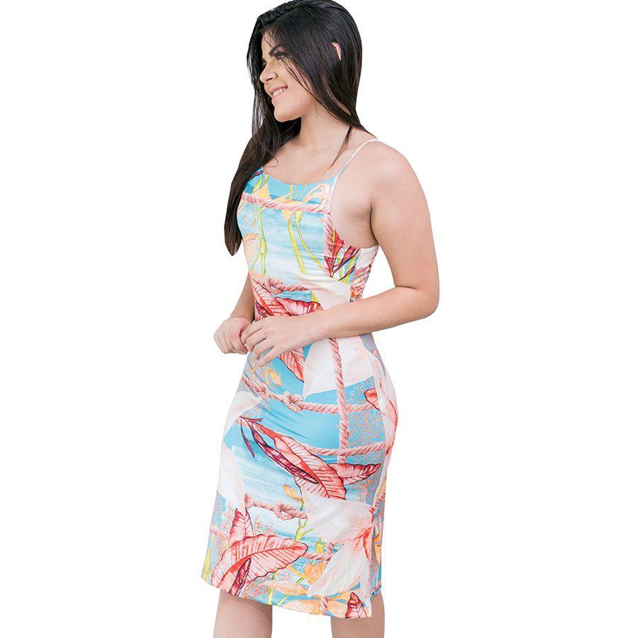 Vestido Midi Alcinha Moda Praia
