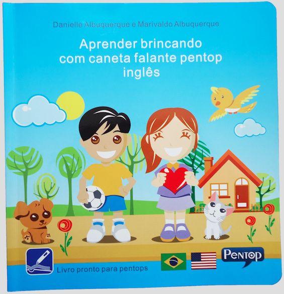 PL01 Livro Aprender Brincando Inglês para uso com Pentop