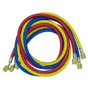 Conjunto de Mangueiras 150cm para Gases R22 / R134a / R404a / R12 3000PSI