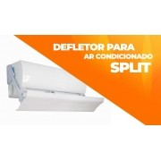 Defletor Para Ar Condicionado Split Universal De Pvc Encaixe Ajustável Ate 100CM Sob Medida