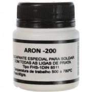Fluxo Solda Prata 80g Aron 200