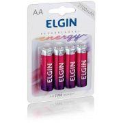 Pilha Recarregável Elgin Aa-2700 Mah (blister C/4)