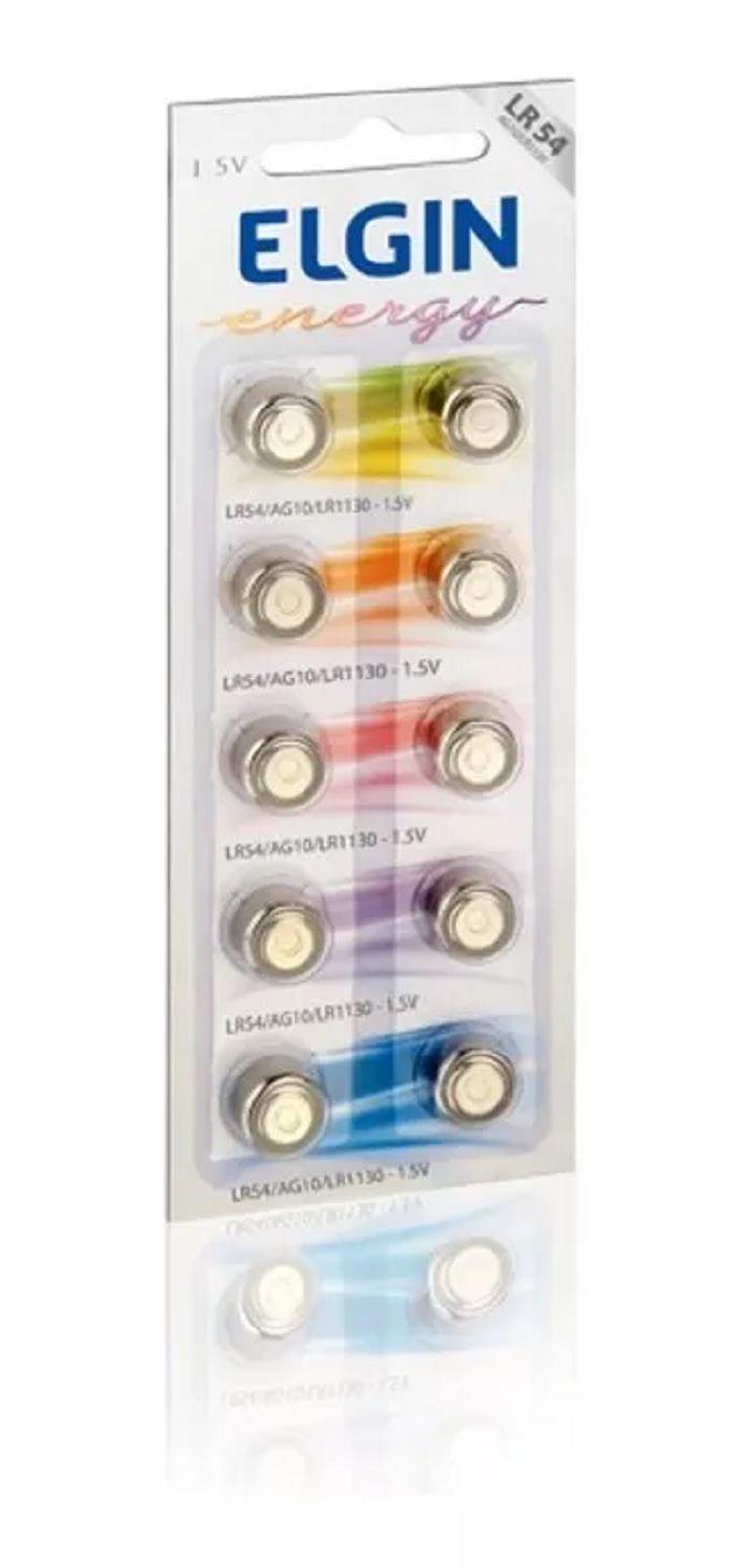 Bateria Lr54 Ag10 Lr1130 1.5v 10un Calculadoras Relogios