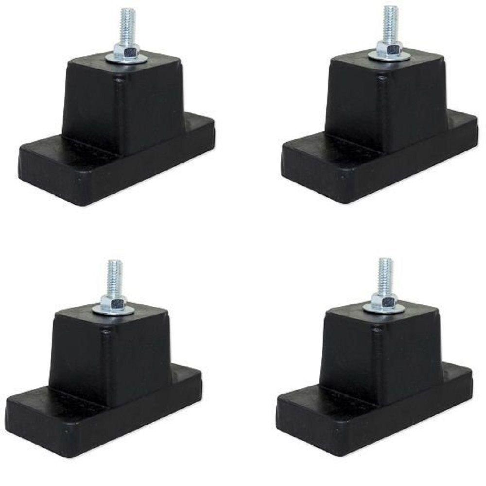 Calço de Borracha para Condensadora Com 4 Unidades