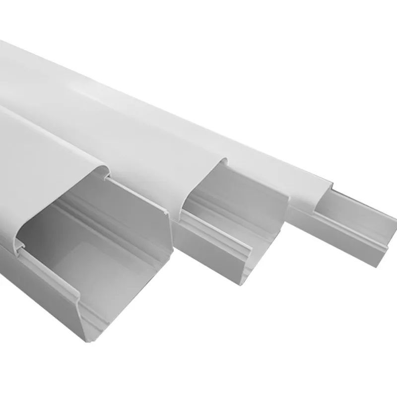 Canaleta para Split até 18.000 BTUs CB60 - Barra de 2  metros Medidas: 5 cm (altura) x 6 cm (largura) x 200 cm (comprimento);