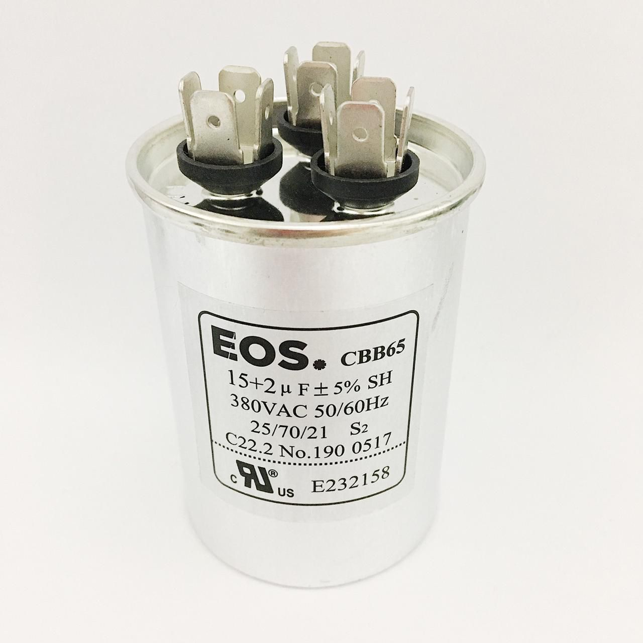 Capacitor 15+2MFD 440VAC EOS