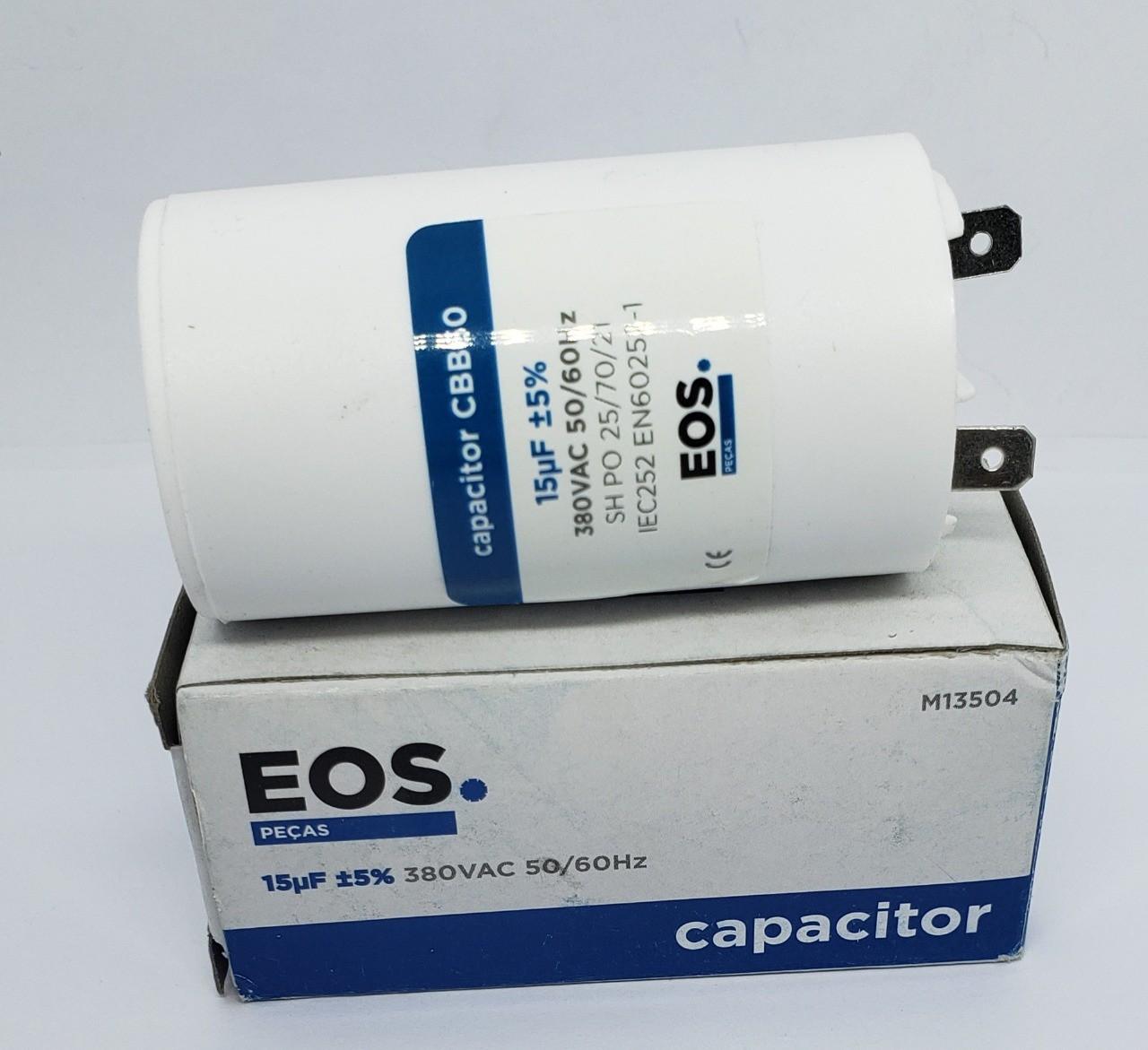 Capacitor 15 Mdf 380v ± 5% 2 Terminal Faston Brastemp / Consul