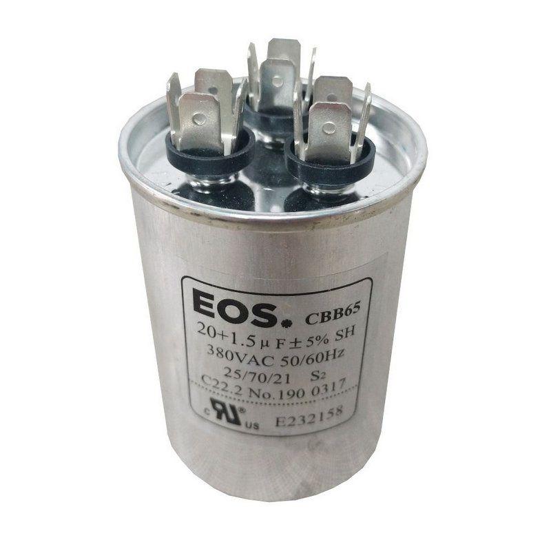 Capacitor 20+1.5MFD 440V EOS