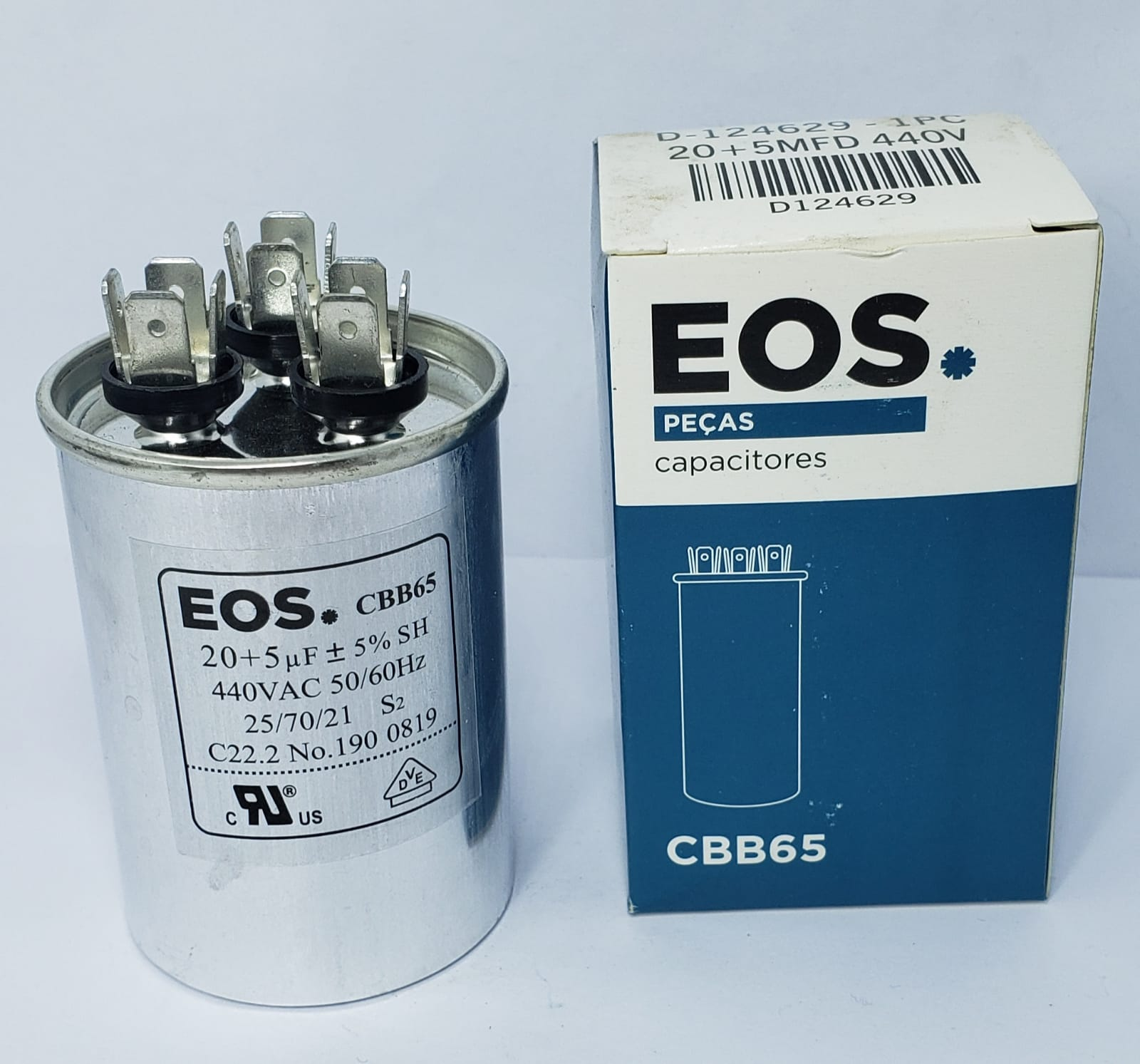 Capacitor 20+5 MFD 440 EOS