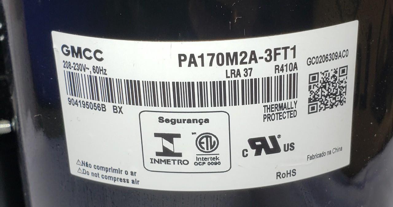 Compressor Rotativo 18000 BTU R410 220V 60HZ 1PH PA170M2A 3FT1