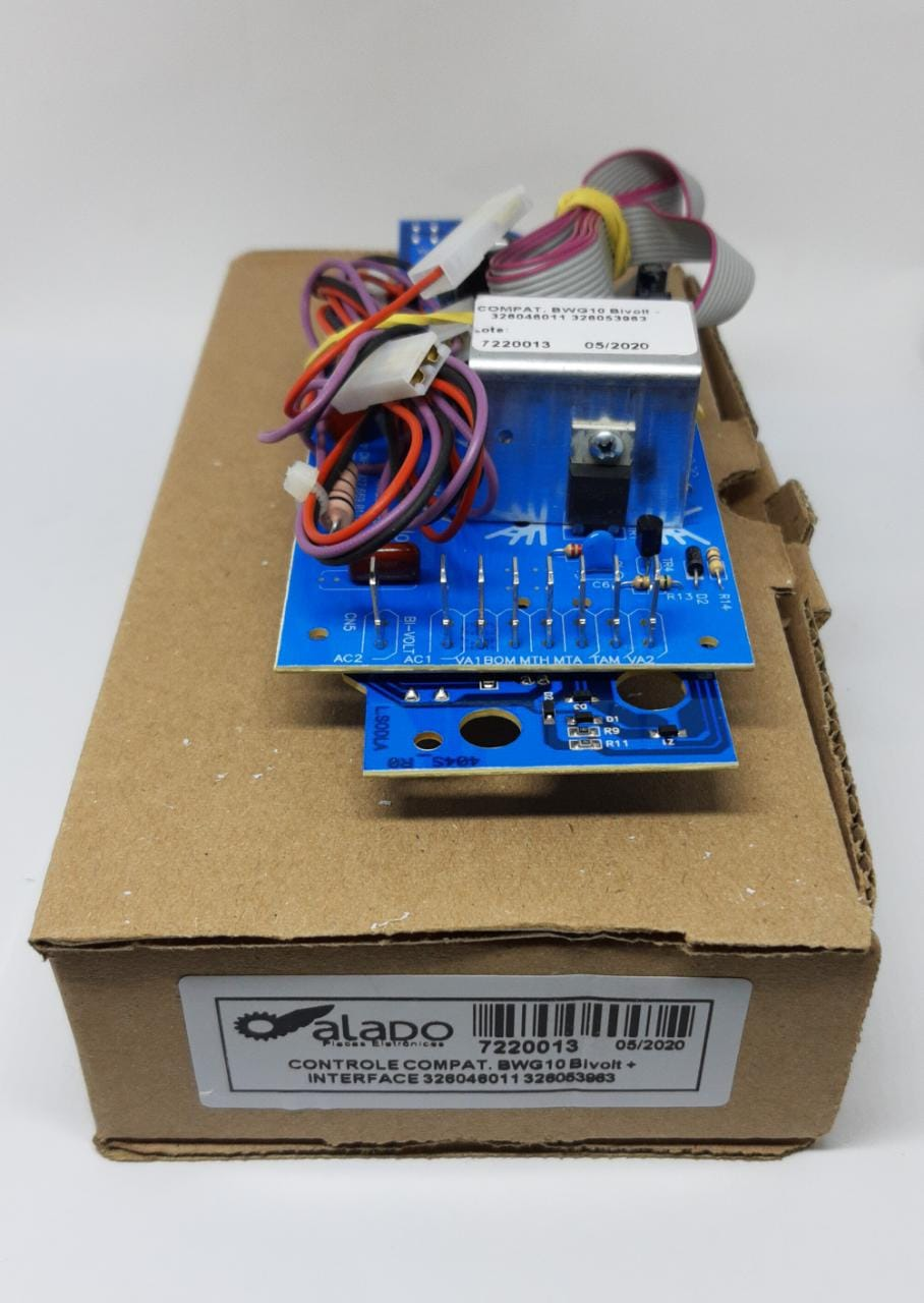 Placa De Potência + Interface Brastemp Bwg10 Bivolt 326046011 - 326053963 - Alado