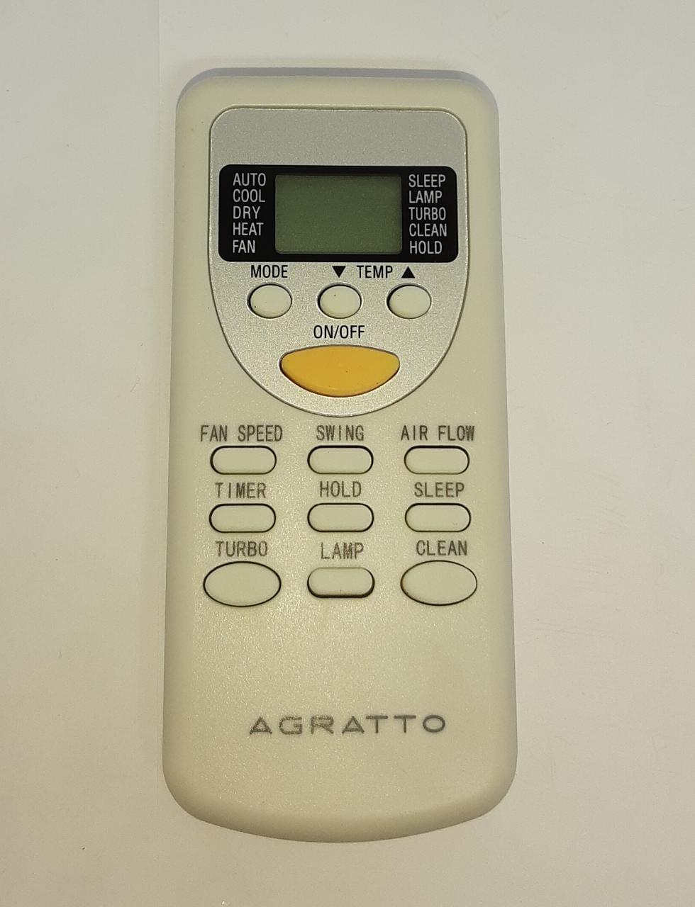 Controle Remoto 18.000 Btus Agratto One Acs18 Original