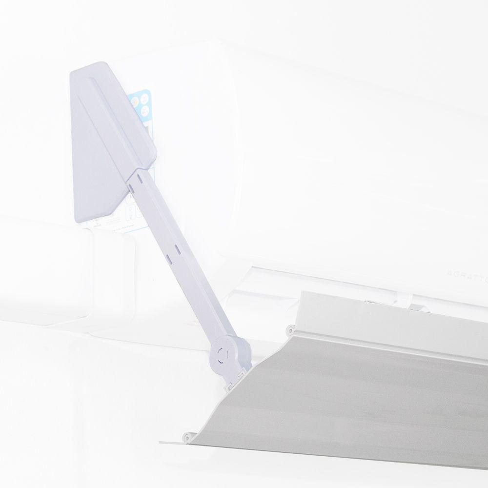 Defletor Para Ar Condicionado Split Universal De Pvc Encaixe Ajustável Ate 84CM Sob Medida