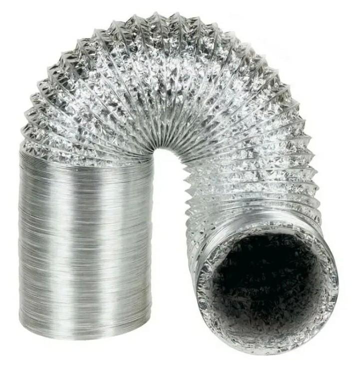 Duto Flexível De Alumínio 10 Centímetro De Diâmetro - 1metro