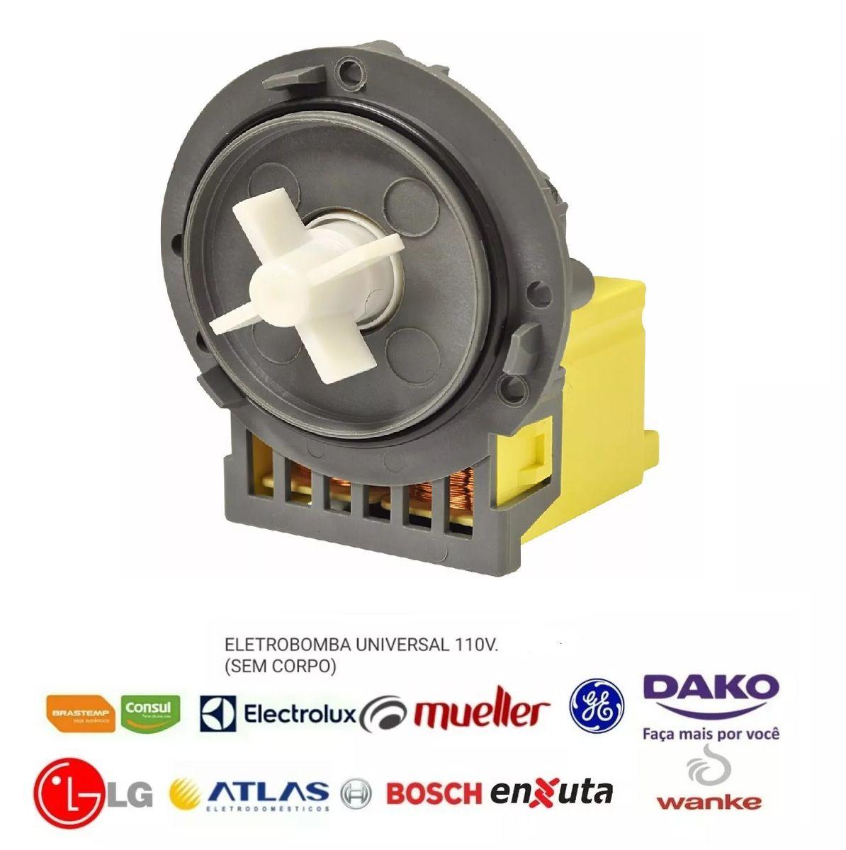 Eletro Bomba Brastemp Universal Sem Copo 110v
