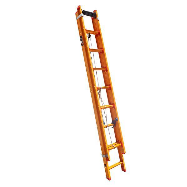 Escada de Fibra Extensível Pratica 100% isolada 19 Degraus