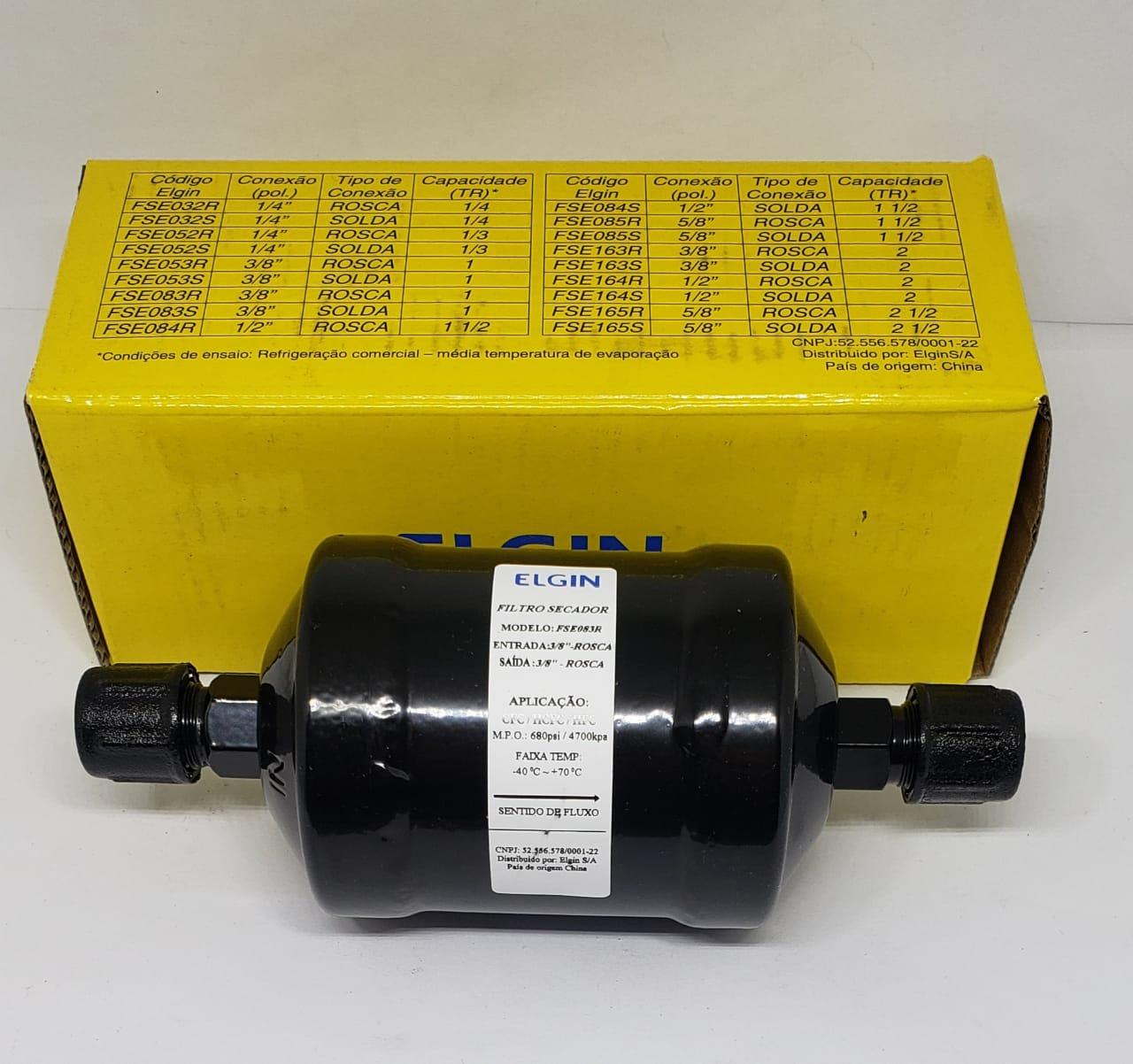 Filtro Secador com Rosca 3/8 X 160 Fse083r Elgin