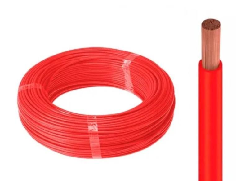 Fio Cabo Flexível 1,5mm vermelho 50 metros