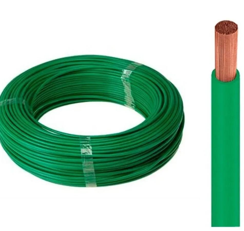 Fio Cabo Flexível 2,50mm verde 100 Metro