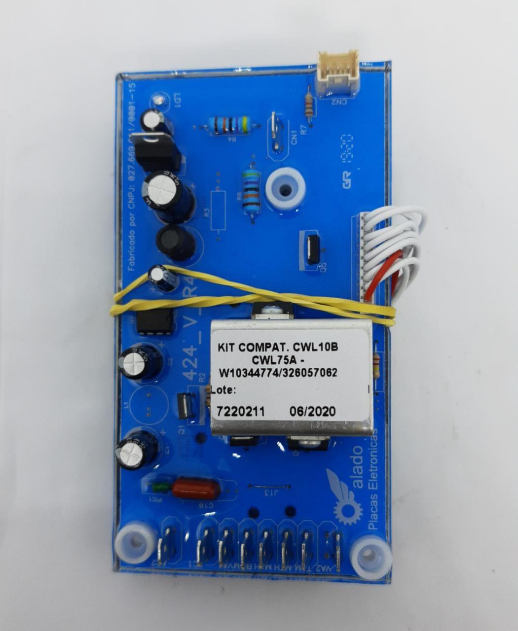 Kit Interface + Placa De Potência Cwl10b Cwl75a W10344774 326057062 - Alado