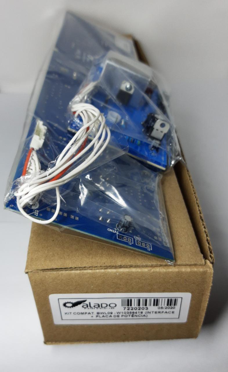 Kit Placa De Potência + Interface Brastemp Bwl09 W10356418 - Alado