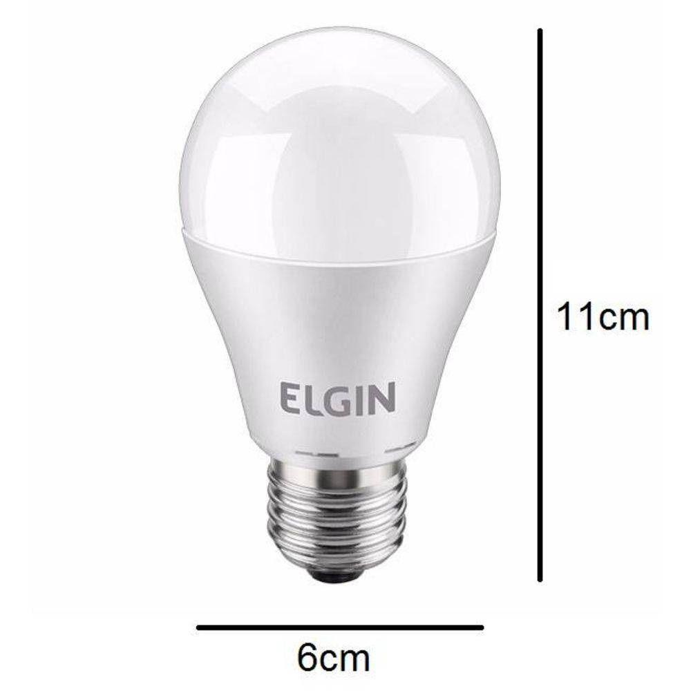Lampada Led Bulbo A60 Pera 12w Bivolt 6500k Elgin