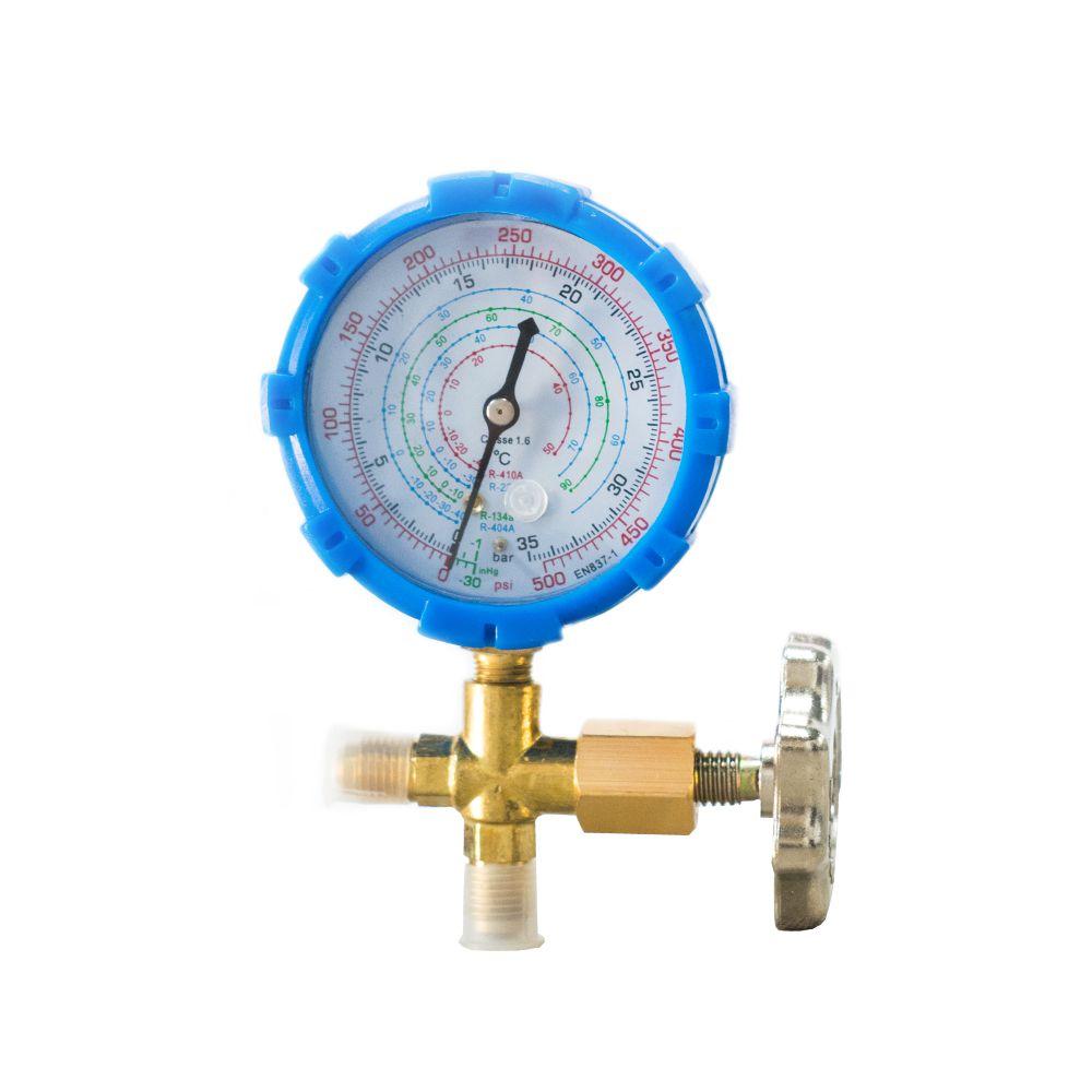 Manifold De Baixa Com Manômetro R22 / R410 / R134 / R404 Exclusivo Com Registro de Metal