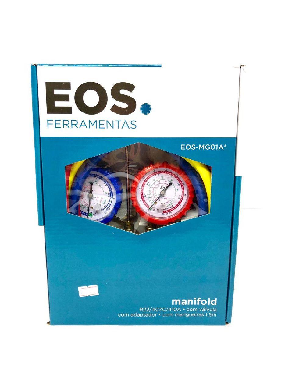 Manifold EOS-MG01A para Gás R22 / R407C / R410A com adaptador - EOS