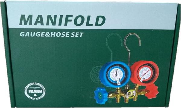 Manifold Para Gás R22 / R404 / R134 / R410A Com Adaptador Premium
