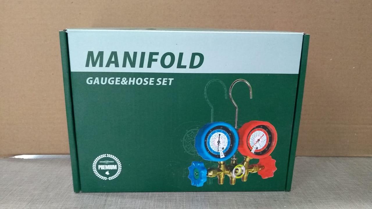 Manifold Para Gás R410A/ R22 / R134 / R404 Mangueira de 1.50mt e Adaptador Premium