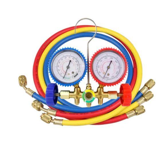 Manifold para Gás R22 / R404 / R134 / R410A com adaptador