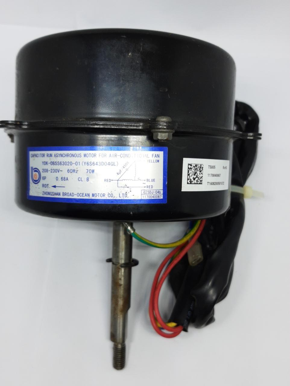 Motor Ventilador  Condensadora 22.000 Btu Agratto Eco Esc22 Original