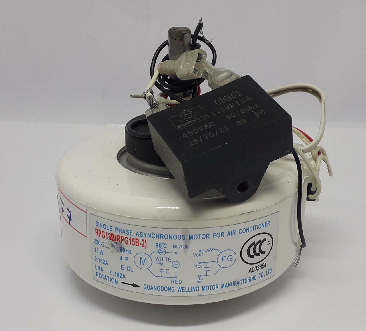 Motor Ventilador Evaporadora Midea Carrier 7.000 - 9.000 -12.000btus 42mlca12m5 (usado)