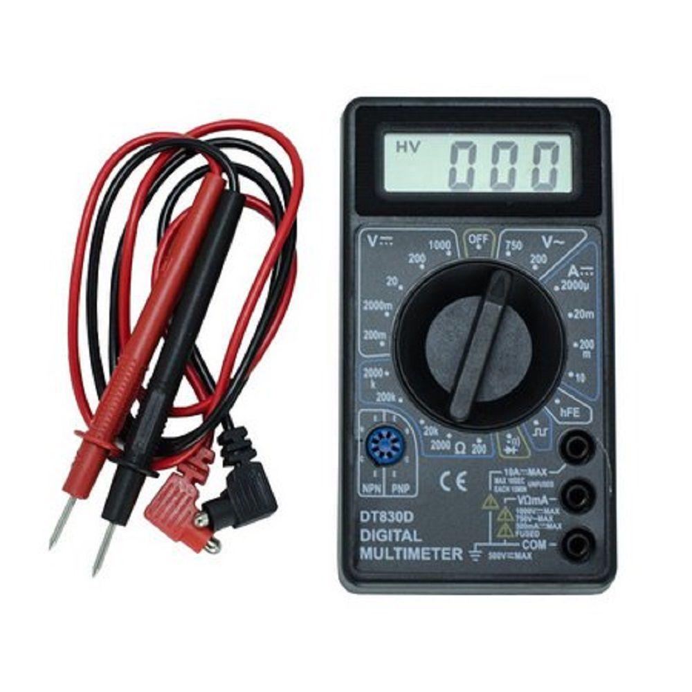 Multímetro Digital DT-830D com Cabo Multiteste e Bateria 9V
