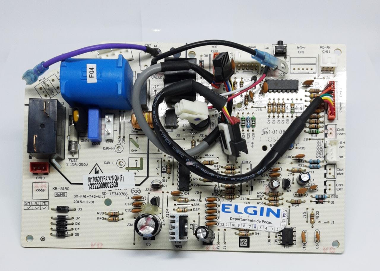 Placa Evaporadora 18.000 Btus Q/F Ecopower HWQI18B2IA HWQI18B2WA Elgin
