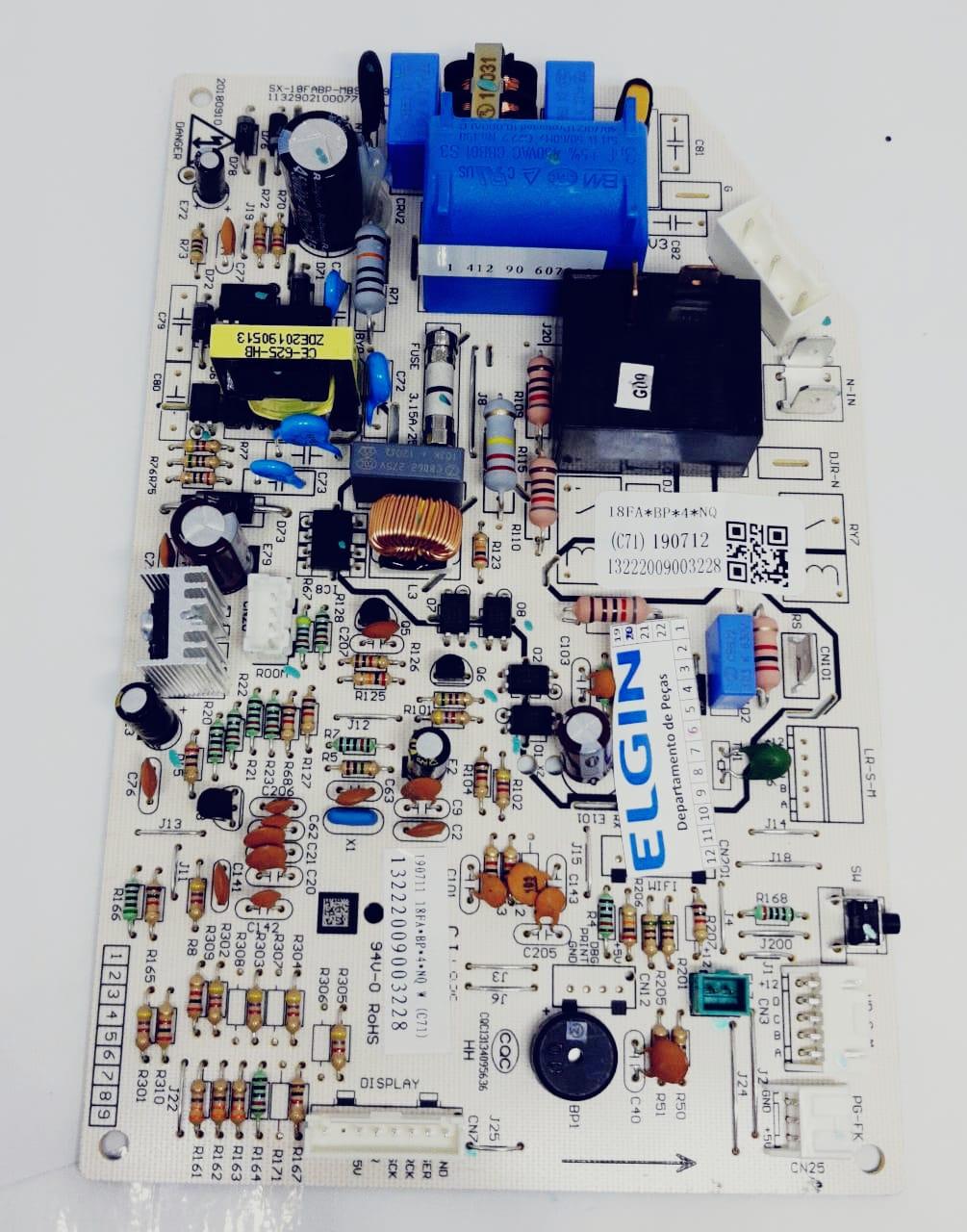 Placa Principal Evaporadora 18.000 Btus Fria Inverter Elgin