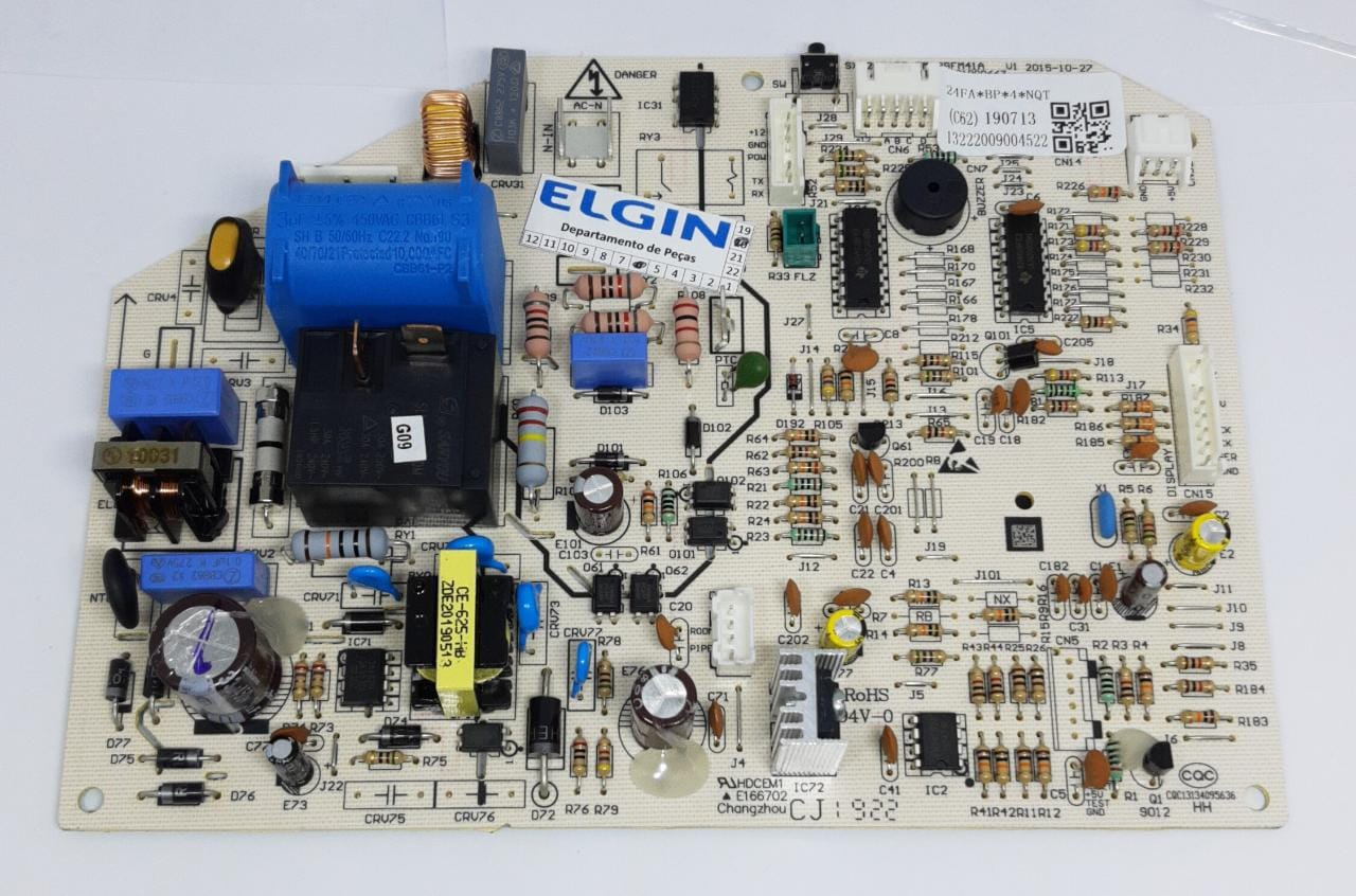 Placa Evaporadora 24mil Btus Inverter HVFI24B2IA HVFI24B2IB HVQI24B2IA Elgin