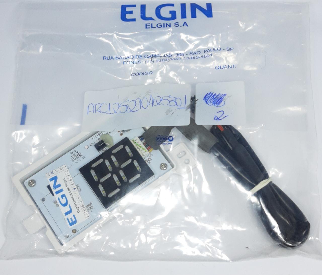 Placa Display Receptora Elgin 9000 A 24000 Btus (EcoPower/ Inverter )