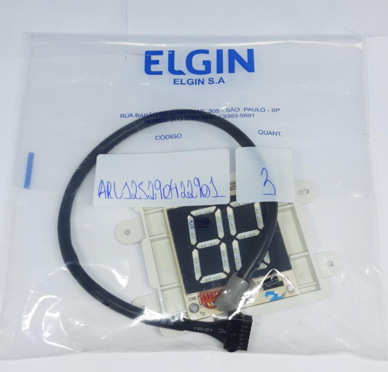 PLACA DO DISPLAY RECEPTORA ELGIN 9000 A 12000 BTU