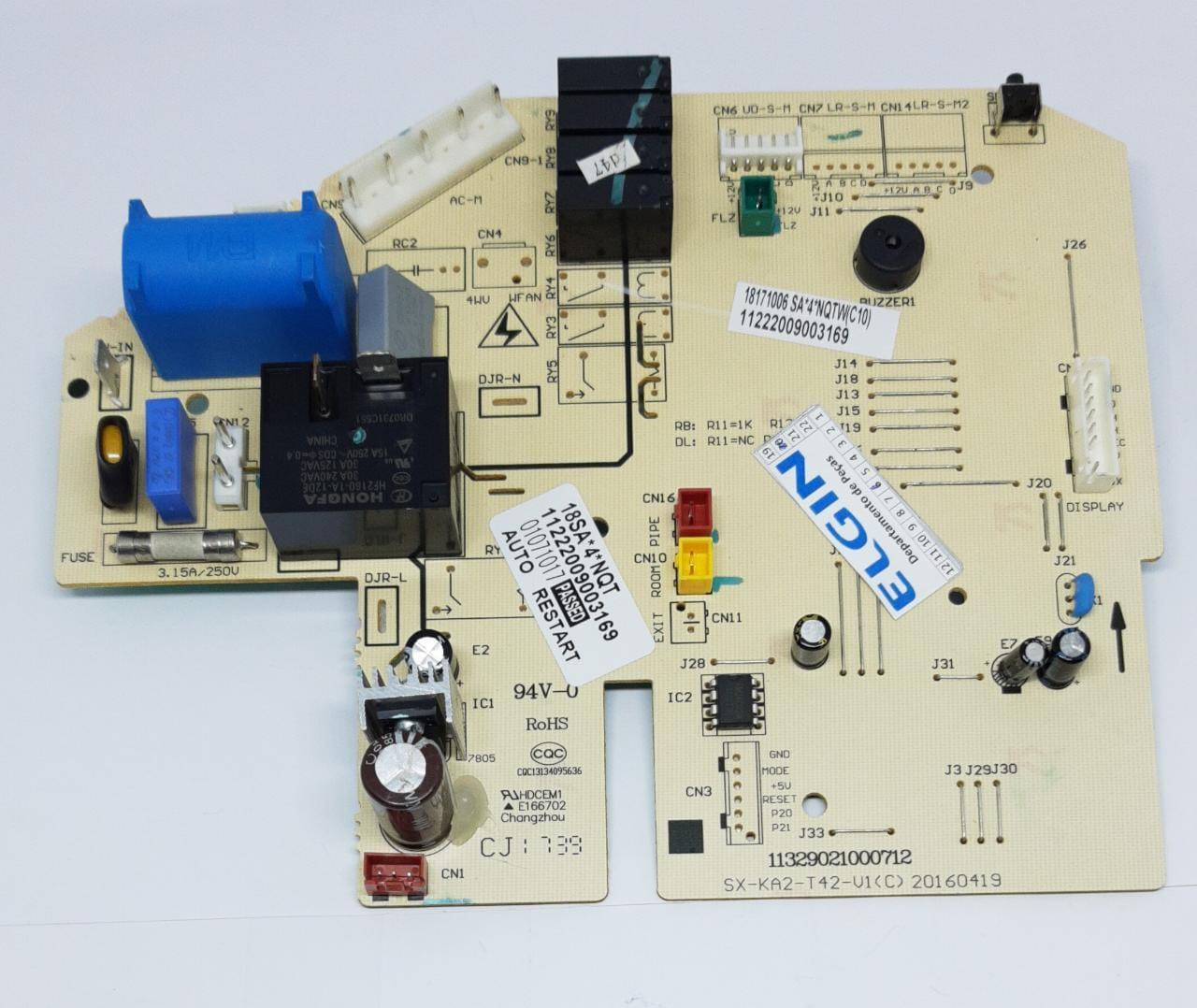 Placa Principal Condensadora 18.000 Btus Fria Hefi18b2ia Elgin