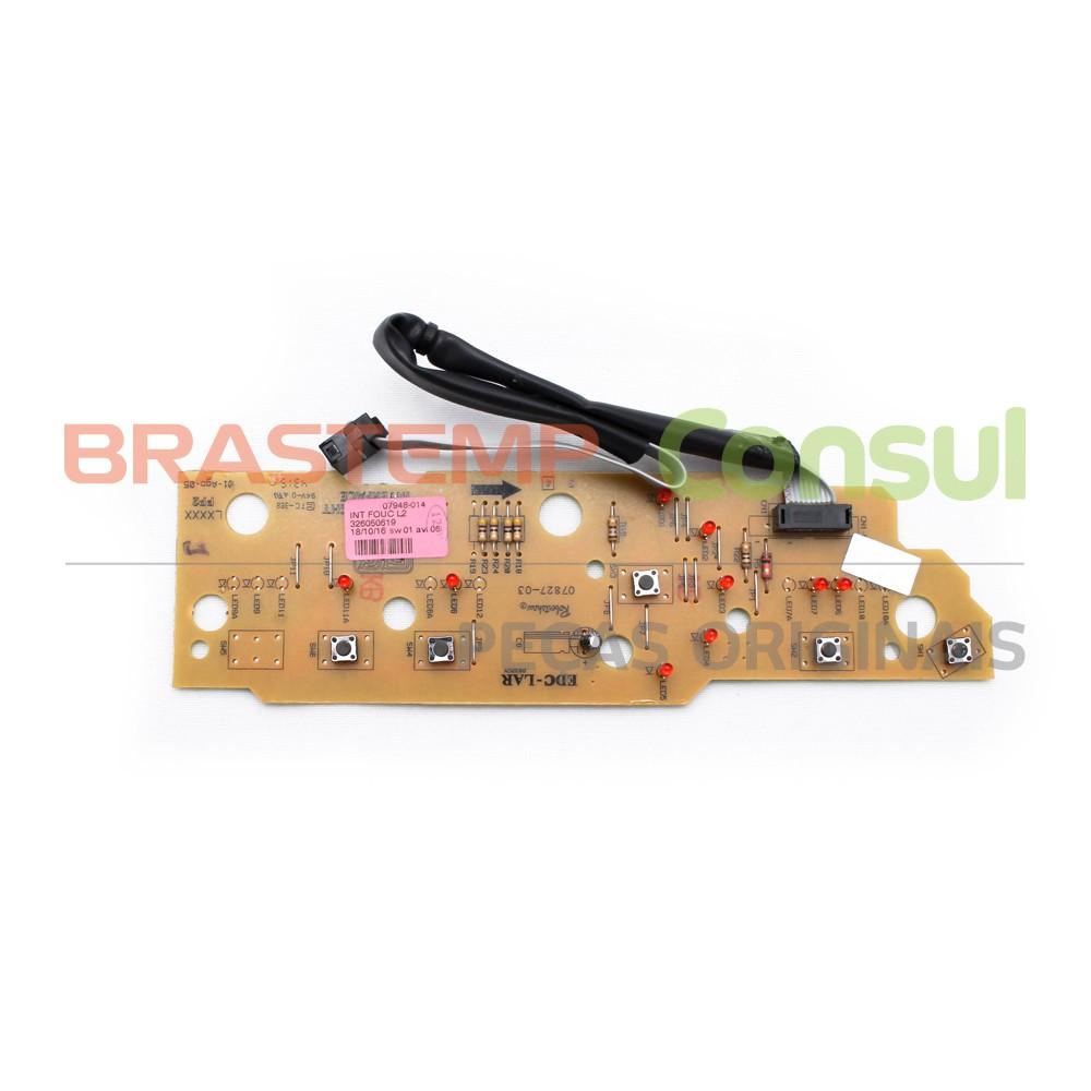 Placa Interface Brastemp Bwc07a Bwc08a Bivolt Foucault Original 326050619