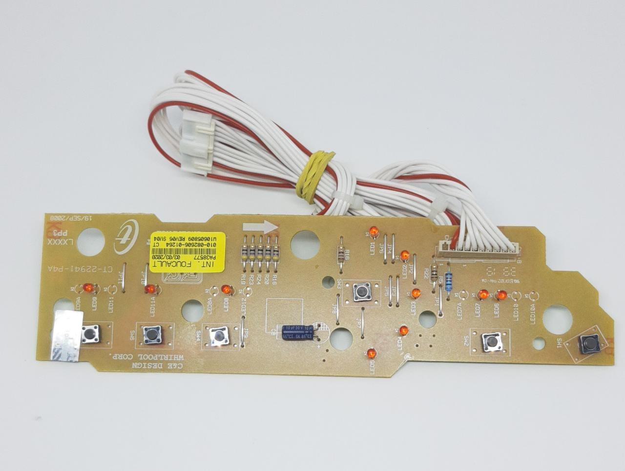 Placa Interface Brastemp - Consul Bwc10/11 X3 Original Conector Branco - W10605809