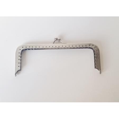Armação 14cm x 5cm c/ furos p/ costura Niquelada