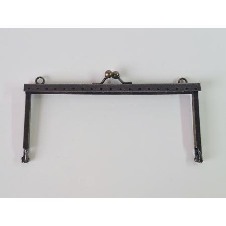 Armação 14cm x 6cm Gravada c/ furos e argolas Ouro Velho