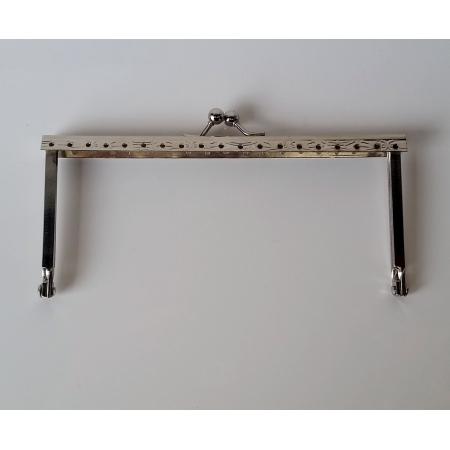 Armação 14cm x 6cm Gravada com furos p/ costura Niquelada