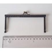Armação 14cm x 6cm Gravada com furos p/ costura Ouro Velho
